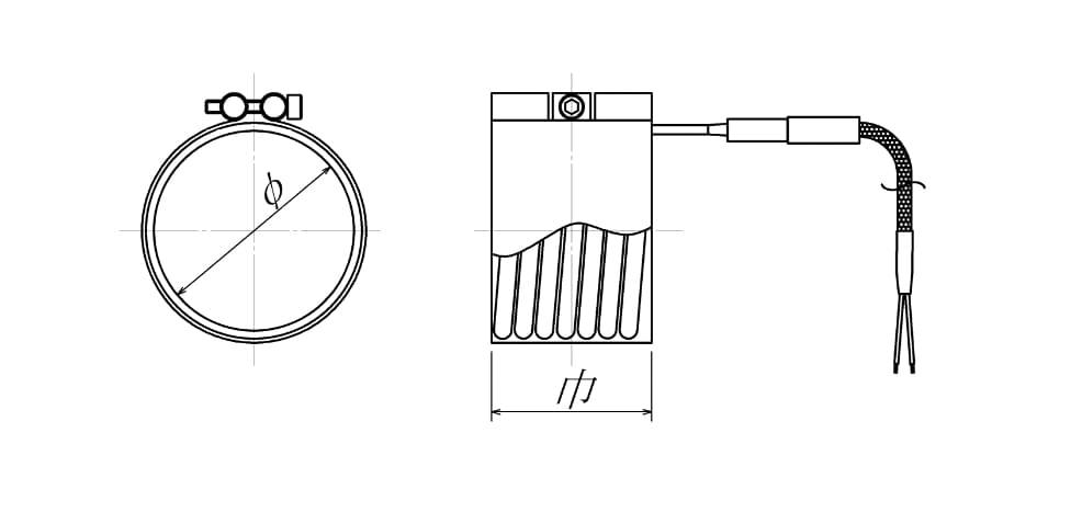 フラットベースヒーターの図面