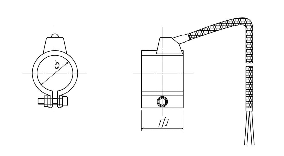 完全密閉型ノズルヒーターの図面