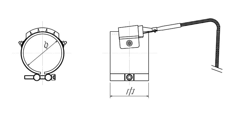 ノズルヒーターの図面