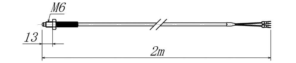 ネジ型温度センサーの図面