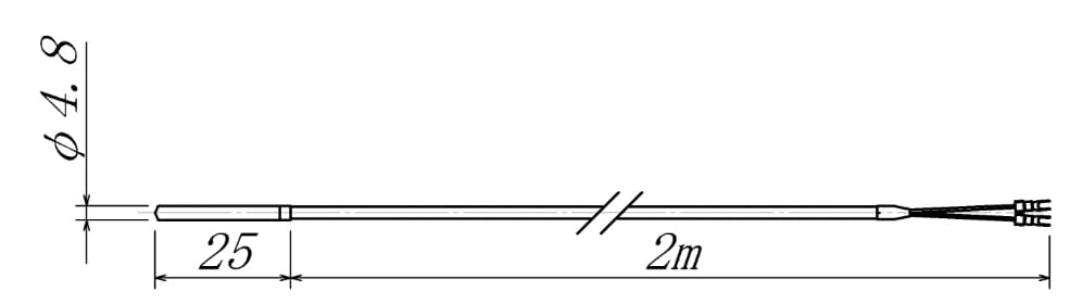 T-14型温度センサーの図面