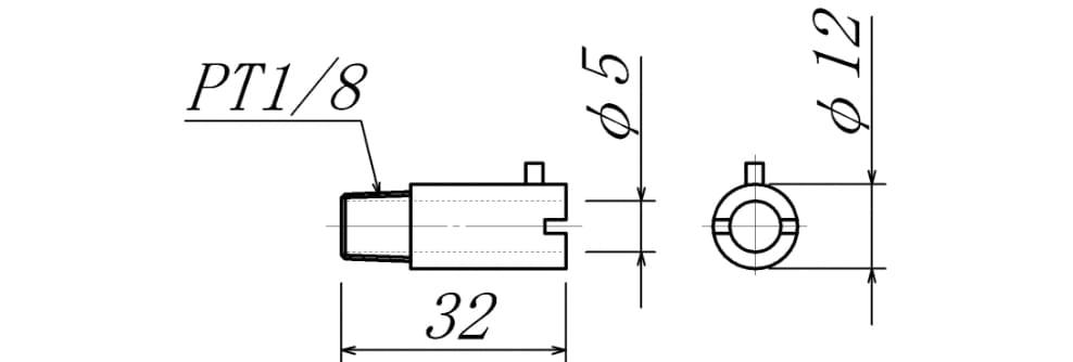 バヨネット用ホルダーの図面